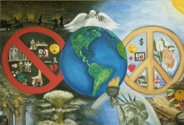 world peace world conversation world family community